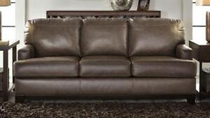 NEW Leather Sofa.   Take it home today!