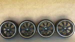 "24"" Lorenzo RIMS ONLY no tires 6 x 139 dodge gmc Toyota etc"