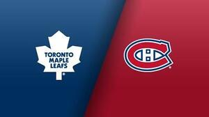 2 billets Canadiens Maple leaf 215$/ch