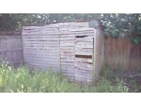 FREE old wooden shed