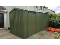 garden sheds - no maintenance steel cladding