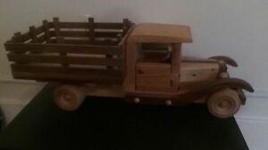 Handmade one of a kind vintage truck made from wood