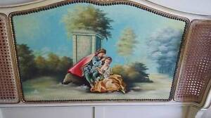 ANTIQUE LOUIS XV FRENCH HAND PAINTED SINGLE BEDS