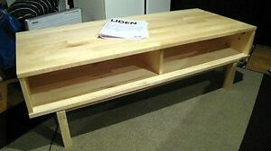 Low profile Wood Entertainment Stand