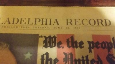 Vintage newspaper June 23, 1936 democratic national convention 1936