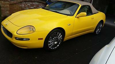 "2002 Maserati Spyder  Yellow Maserati Spyder ""Best of the Best"" VERY LOW MILES!"