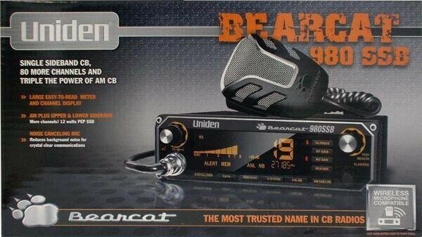 UNIDEN BEARCAT 980 SSB 40 Channel Mobile CB Radio w/ Sideband & 7 Color Display