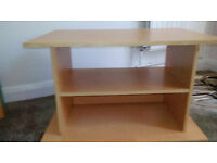 TV stand, light beech colour, free to good home, available now!
