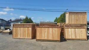 Cedar fence panels sale 6x8 5x8 4x8 & installs to