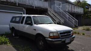 1998 XLT Ford Ranger - $1400 with canopy and snow tire set