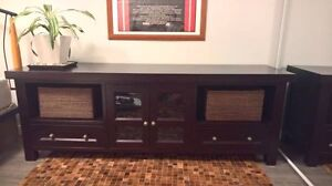 Sideboard Entertainment Unit Brown/Black Crate & Barrel