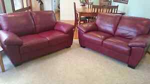 Burgundy 2 seater sofas Woonona Wollongong Area Preview