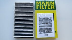 BMW 5 & 6 Series 2004-2010 MANN Cabin Air Filter 64319171858 OEM