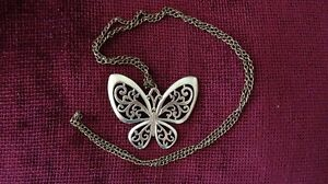 Bronze butterfly and turtle necklaces $8 each Cambridge Kitchener Area image 1