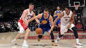 2 Tix Sec 122 - Sit Together- NBA CAN Raptors Warriors Oct 1st