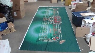 Casino Table Cloth (Santa Fe Station Casino Craps Table Cloth Felt 152 x 62 inches + Sahara Dice)
