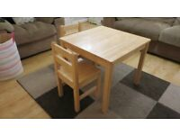 Kids' Wooden Table and Chairs