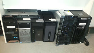 Serveurs Usagés, HP, Dell, IBM, Rackmount 1U 2U 4U, Grosse Tower