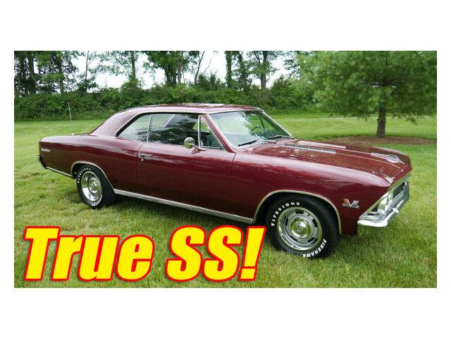 Chevrolet : Chevelle SS 1966 Chevrolet Chevelle Super Sport TRUE SS 396 Big Block Straight & Solid