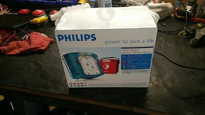 New Unopened Box Philips Heartstart Home Aed Defibrillator With Red Case