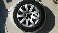 P195/60 R15 Winter Tires + VW Alloy Stock Rims For Sale