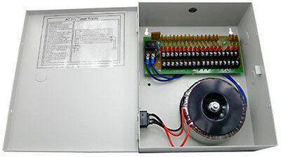 CCTV SECURITY CAMERA POWER Supply Distribution Box 24V AC 18ch 10 Amps PTC Fuse