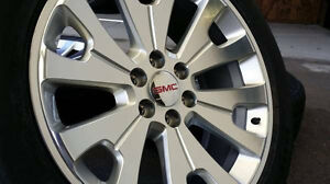"22"" GMC Factory OEM Denali Wheels & Tires - Like New!"