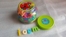 Alphabetic puzzle + magnetic letters + Operation educational game + Brand New Wall Stickers