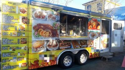 Fully Loaded Food Concession Trailer Commercial-grade Mobile Kitchen For Sale