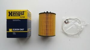 BMW 2006-2009 HENGST Oil Filter Kit. 11427542021, E203H04D67