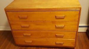 Dresser, chest, 2 nightstands