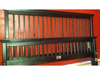 Solid wooden double beds frames with mattresses
