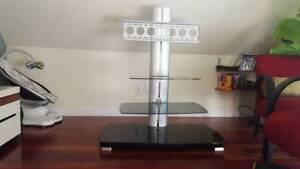 Sleek Adjustable TV Stand/Mount with 2 Adjustable Shelves
