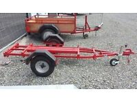 single motorbike trailer, frsh painted and new jockey wheel. cheap trailer at £165