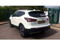 NISSAN QASHQAI 1.6 DiG-T N-Connecta [Glass Roof Pack] 5dr (white) 2017