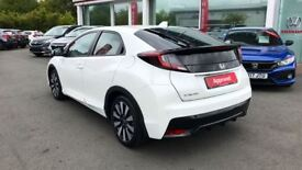 HONDA CIVIC 1.8 i-VTEC SE Plus 5dr [Nav] (white) 2017