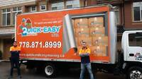 QUICK AND EASY MOVING LTD //////KELWONA TO VANCOUVER