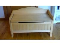 Wooden Toy Box/Bench, could double as a (baby) blanket box, from GLTC
