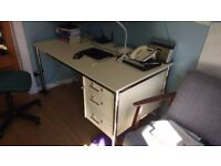 Computer Table - Office Table - Very Solid - Excellent Condition - 3 Locke able Draws - 3 Keys