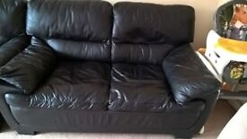 Leather sofas and footrest