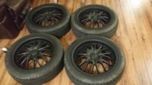 4 Black Core Racing Wheels 17x7 ET45 5x114.3 and 5x100