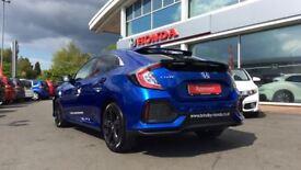 HONDA CIVIC 1.0 VTEC Turbo SR 5dr (blue) 2017