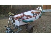 10'6 dinghy tender boat with vintage seagull engine