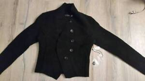 Brand New Black Crop Wool Jacket (with Tag)