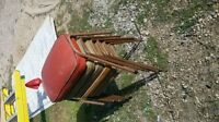 6 free chairs bench stool