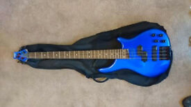 Bass Guitar, electric blue. great condition