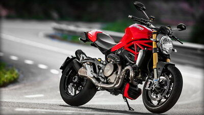 "057 Ducati - Monster Multistrada Panigale Super Motorcycle 42""x24"" Poster"