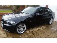 BMW 320 1.8 M SPORT, BLACK, ONLY 57200 MILES, EXCELLENT CONDITION.