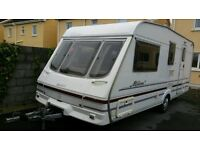 1999 swift milano 4 berth touring caravan with full awning
