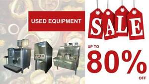 Sale For Used Food Equipment Up To 80% !!
